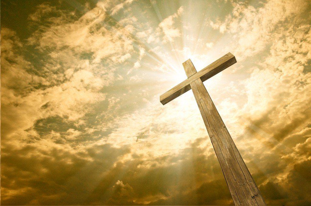 Stock Photo: cross against the sky
